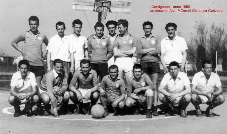 Cervignano 1950, amichevole Ass. P. Zorutti - Ginnastica Goriziana
